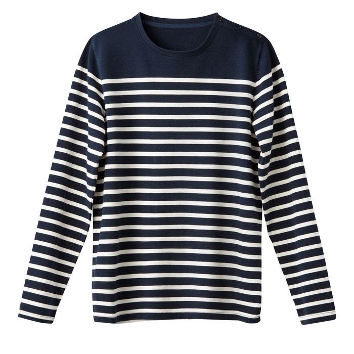 5d2e97197beb5 T-shirt manches longues marinière, thibault La Redoute Collections | La  Redoute