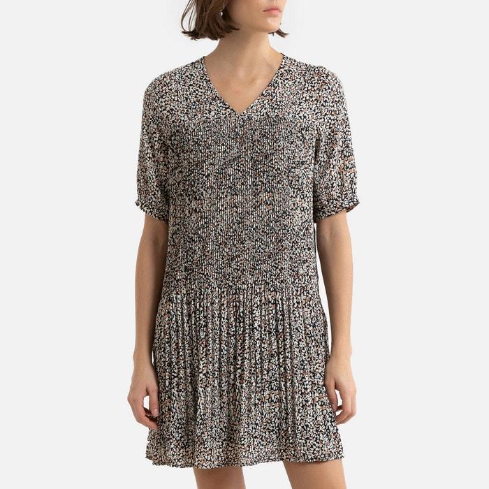 Kurzes Bedrucktes Kleid 3 4 Armel Vero Moda La Redoute