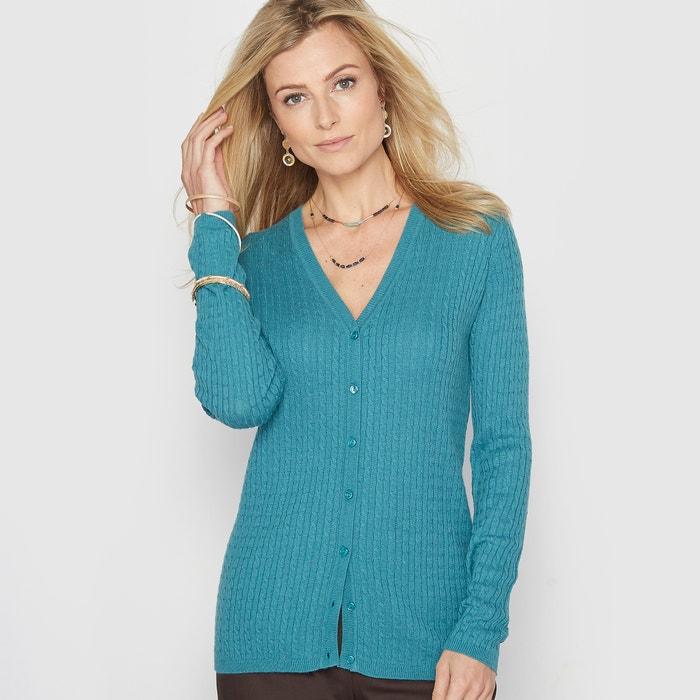 Image Sweter z dekoltem w serek, 10% wełny ANNE WEYBURN