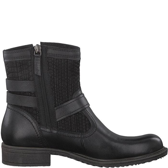 Boots motardes cuir anouk  noir Tamaris  La Redoute