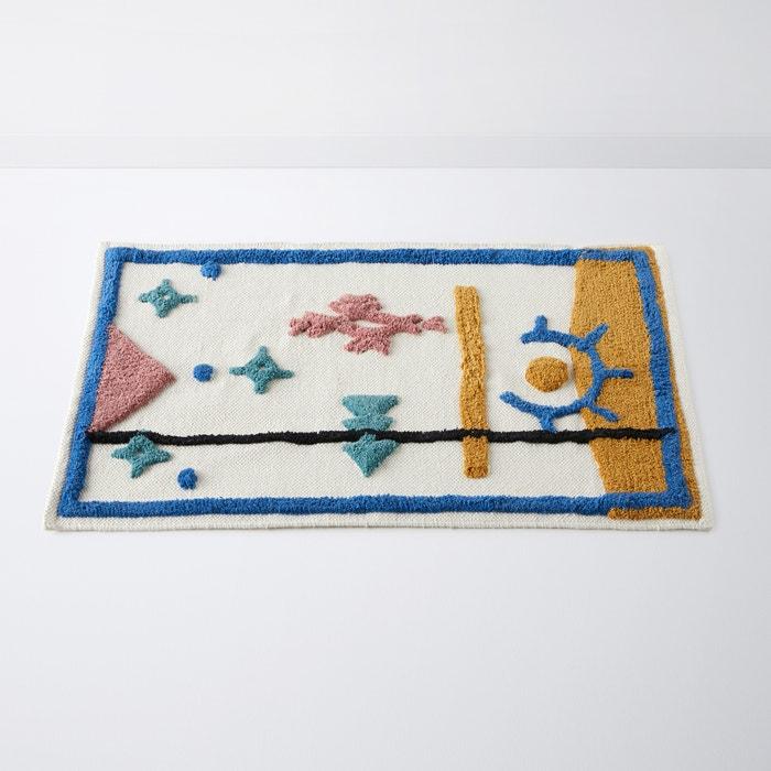 tapis de bain pur coton izlan imprim multicolore la. Black Bedroom Furniture Sets. Home Design Ideas
