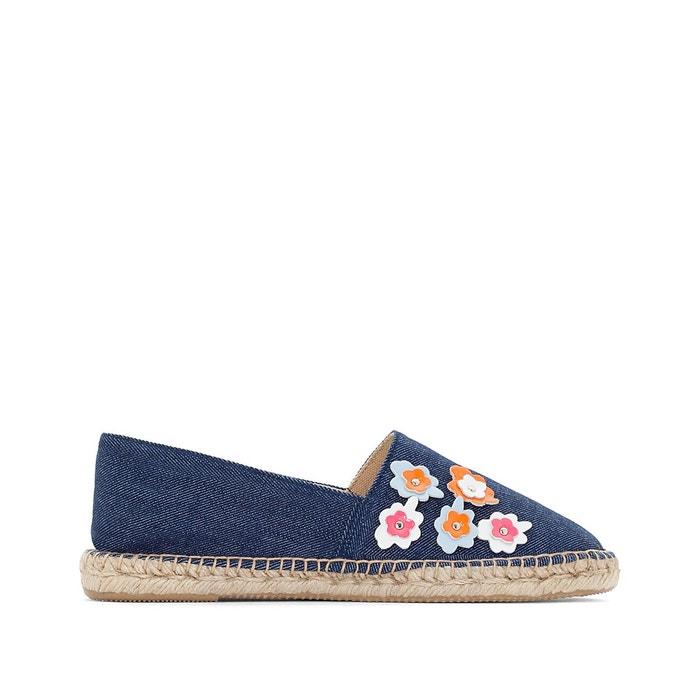 Espadrilles détail fleurs bleu Mademoiselle R