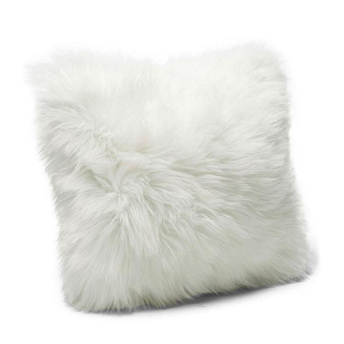 Coussin Fourrure blanc 40x40cm Kare Design