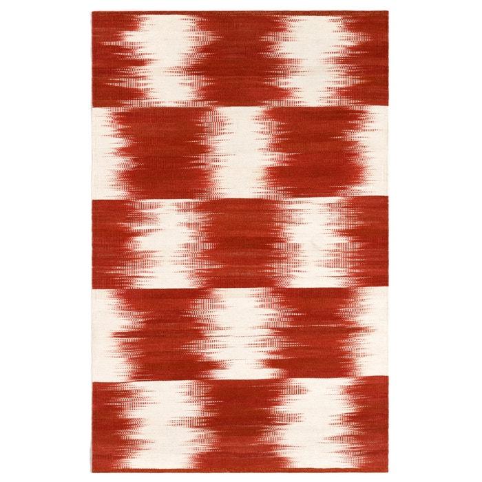 Image Tapis tissé à plat motif Ikat en laine, Vitto AM.PM.