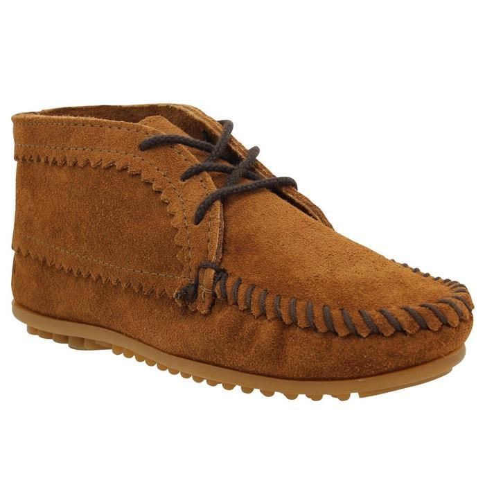 Amazone Footaction Parfait Rabais Bottines femme minnetonka suede ankle boot velours femme marron marron Minnetonka 1r27Fm3