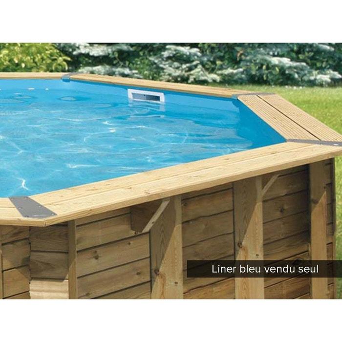 Liner seul pour piscine bois oc a 5 80 x 1 30 m bleu couleur unique ubbink la redoute for Piscine la redoute