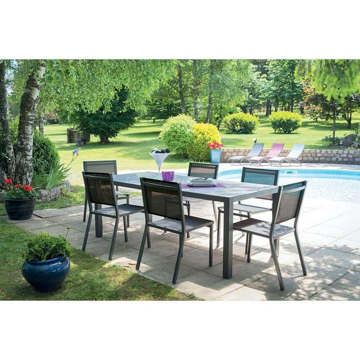 Salon de jardin avec chaises home maison la redoute - La redoute salon jardin ...