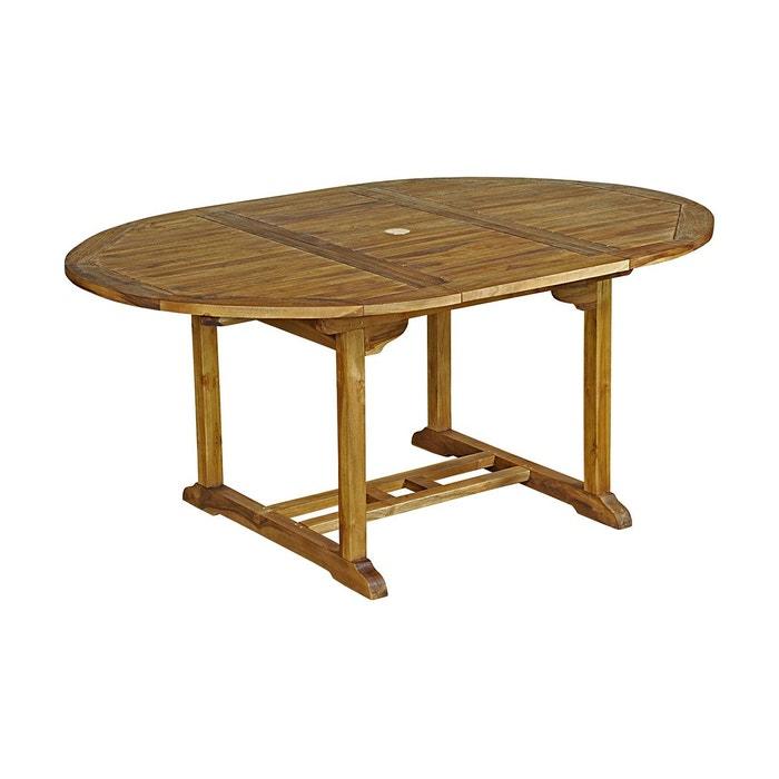 Table de jardin ronde en teck huilé 4/6 pers, Baya