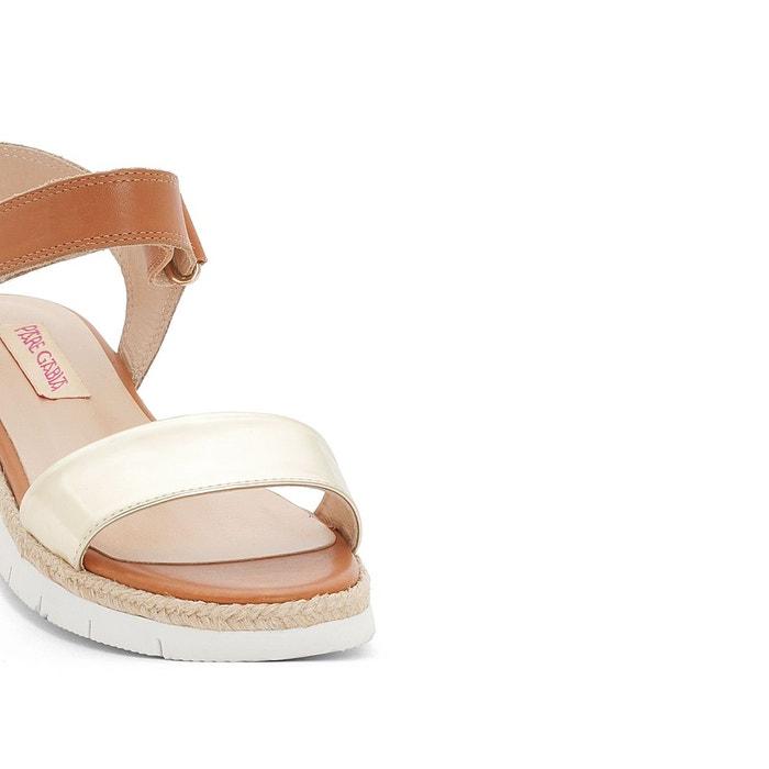 Sandales paulou marron doré Pare Gabia