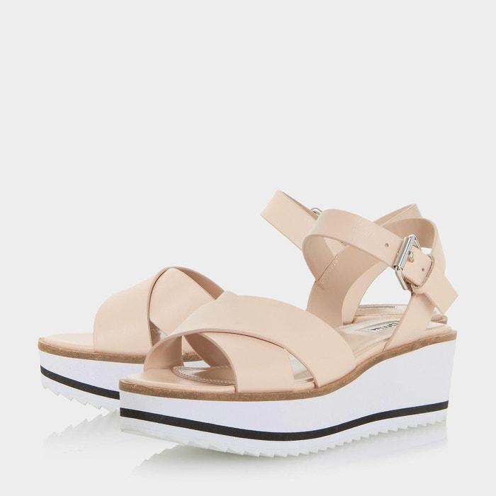 Sandales à plateformes crantées blanches eva - kassius Dune London