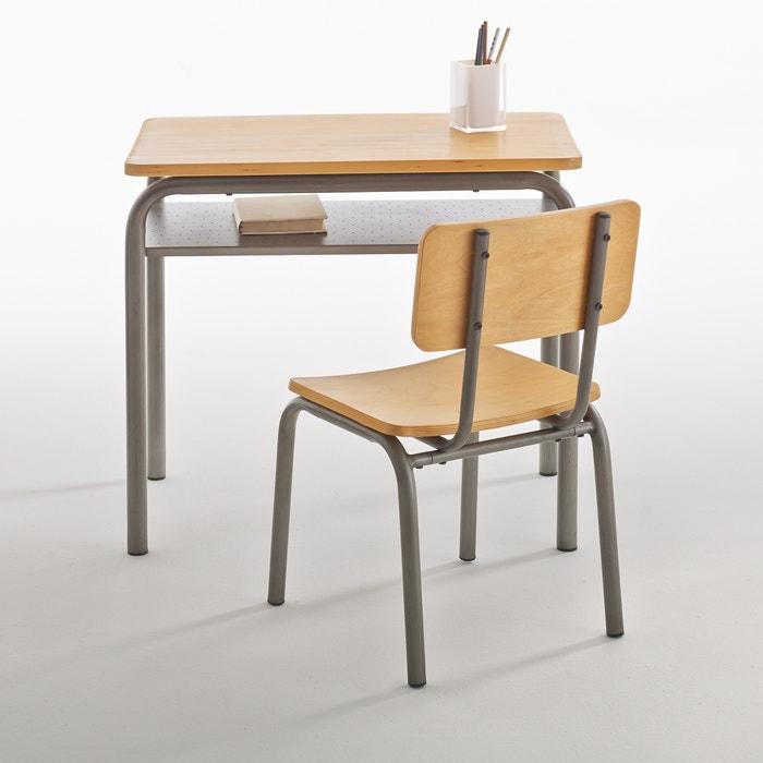 Buton Vintage School Desk And Chair Grey Wood La Redoute Interieurs