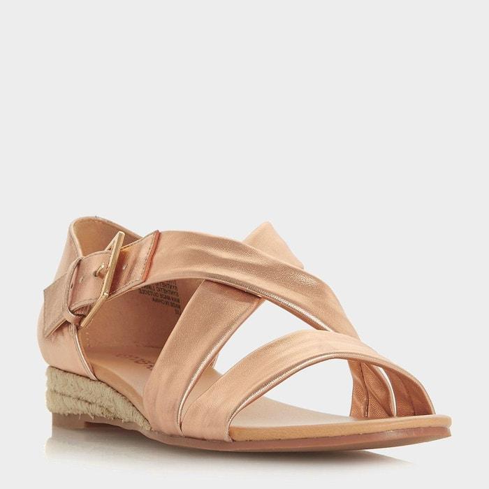 Sandales style espadrilles basses à brides croisées - kylaa Head Over Heels By Dune