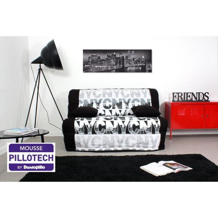 banquette lit bz urban matelas mousse pillotech by dunlopillo noir noir relaxima la redoute. Black Bedroom Furniture Sets. Home Design Ideas