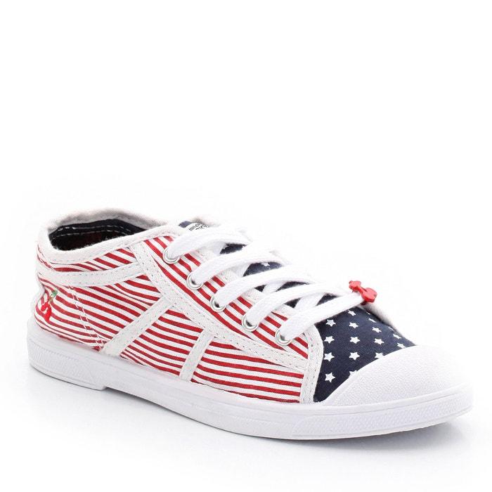 """Bild Sneakers """"Basic 02"""", bedruckter Canvas, Schnürung LE TEMPS DES CERISES"""