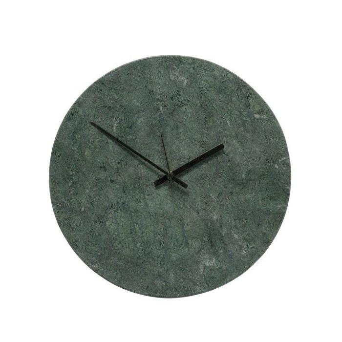 Horloge murale ronde marbre  Hübsch HUBSCH