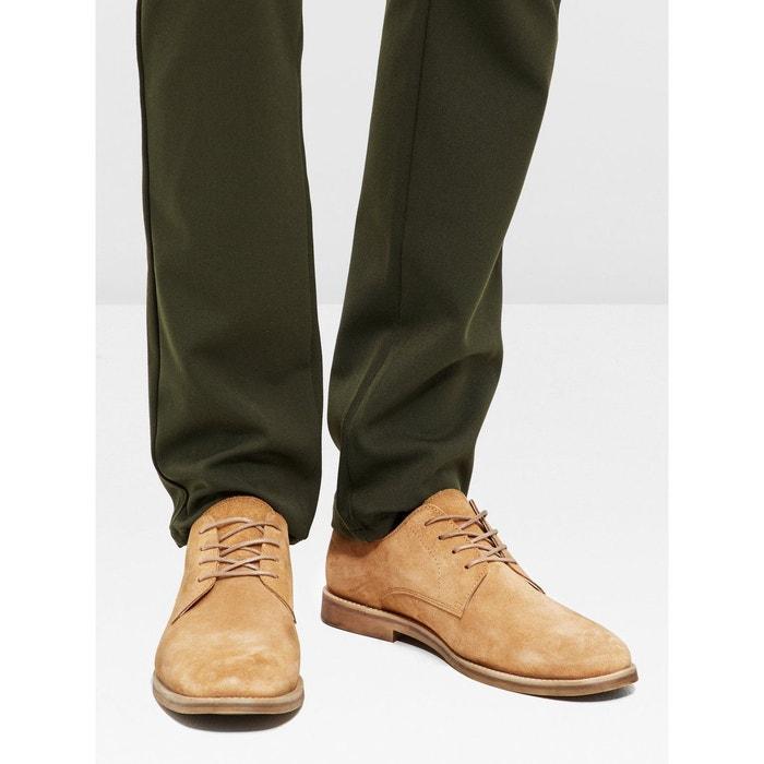 Chaussures derby pour hommes en daim Bianco