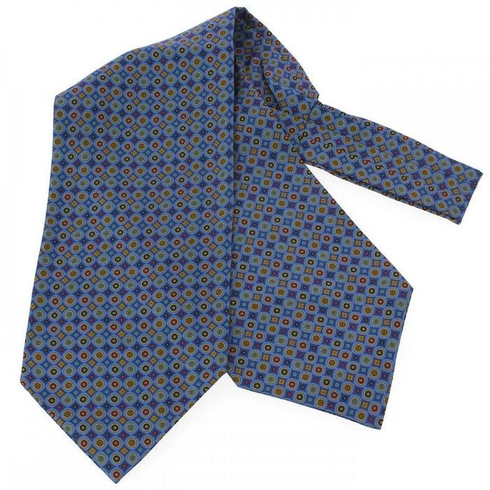 Charles auguste, foulard ascot soie, victoria, cercles bleu ciel bleu Tony Et Paul | La Redoute