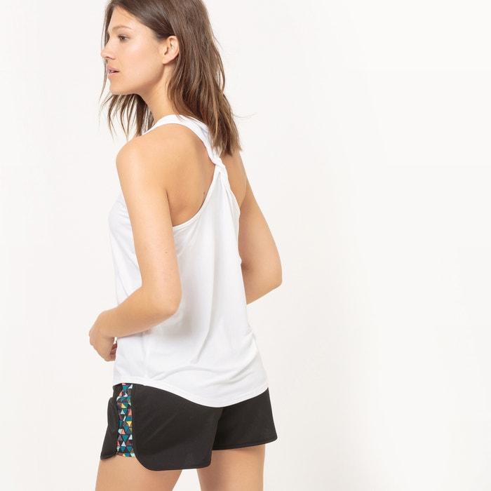espalda La Redoute deporte con Camiseta Collections de estilo trenzada mangas sin nadador 8U8rq7c4