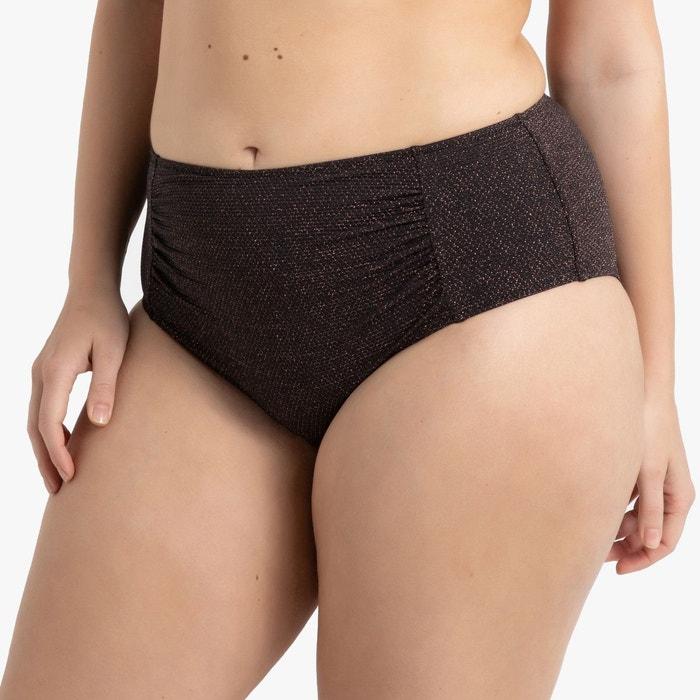f9a9311967 Bas de maillot de bain culotte effet ventre plat noir irisé Castaluna | La  Redoute