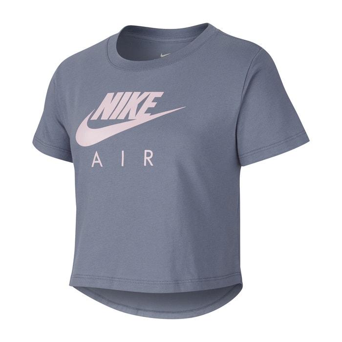 Camiseta corta estampada air crop xs-xl gris + rosa Nike  bf985892274c9