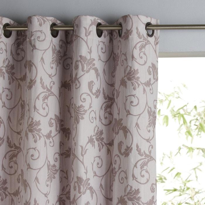 Valina Jacquard Single Curtain with Eyelet Header