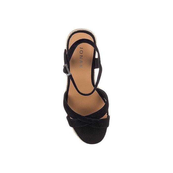 ac26cb2d7bd609 Sandales compensées cuir velours Jonak | La Redoute