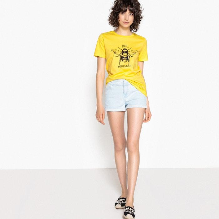 motivo Redoute cuello con manga corta redondo Camiseta con Collections abeja La de y qvUAfw1qx
