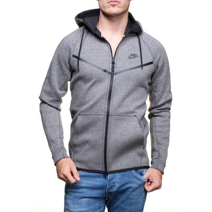 Sweat tech fleece windrunner gris Nike   La Redoute c23e6fa55068