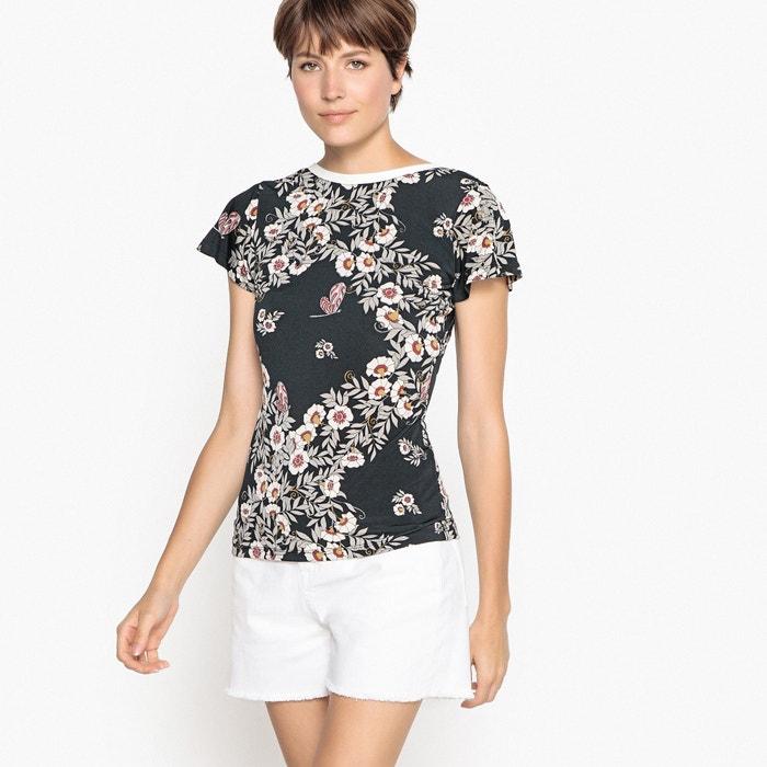 T-shirt maniche corte volant, scollatura dietro  La Redoute Collections image 0