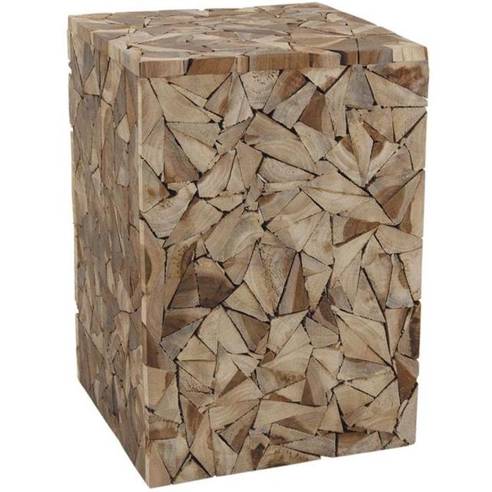 magasin en ligne 76bce 7d60c Tabouret cube bois Scuplture