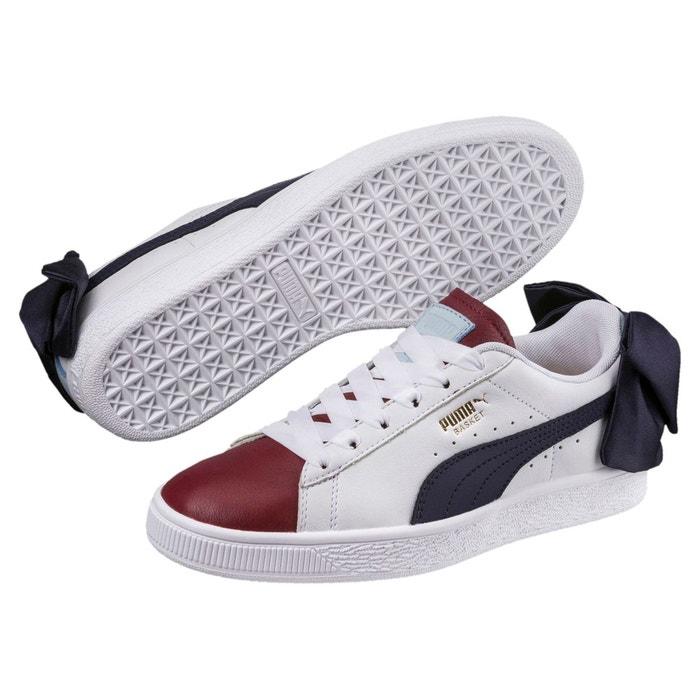 Chaussure basket bow new school pour femme cerulean-puma white-peacoat Puma    La Redoute ff312a7a4bb6