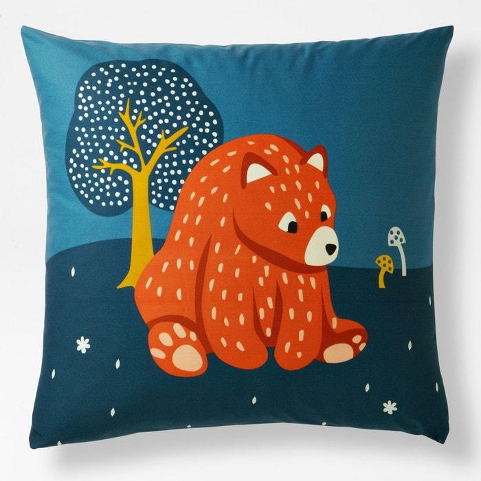 taie d oreiller coton orsi bleu nuit la redoute interieurs la redoute. Black Bedroom Furniture Sets. Home Design Ideas
