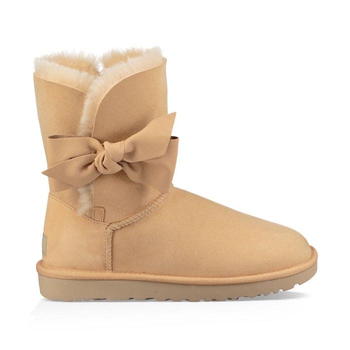 Boots cuir, fourrées laine, daelynn ocre Ugg