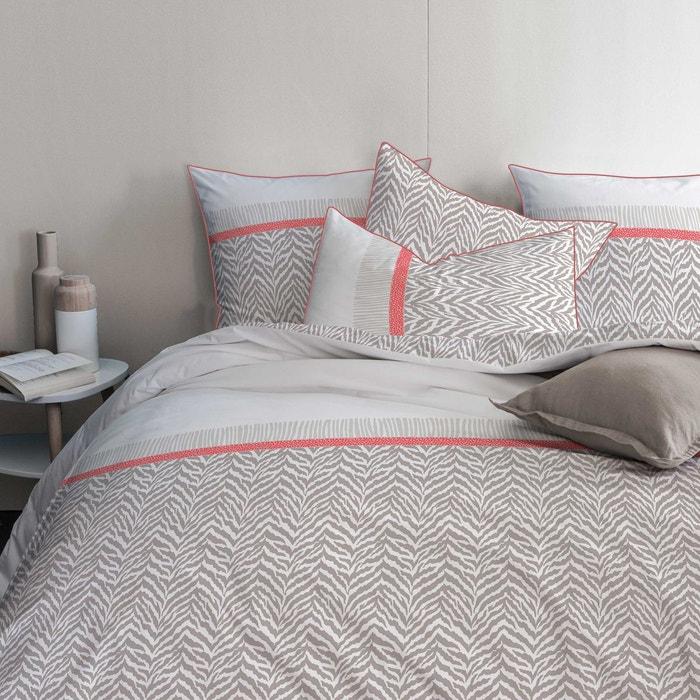 housse de couette et taie d 39 oreiller rectangulaire 100 coton sable blush matt et rose la. Black Bedroom Furniture Sets. Home Design Ideas