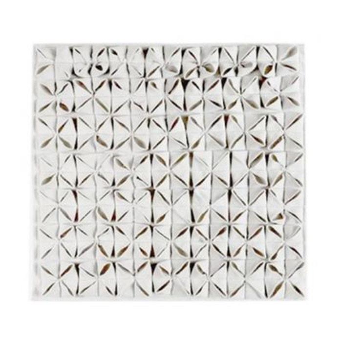 Tapis de bain design carr 100 coton origami ivoire aquanova ivoire wadiga - Tapis de bain la redoute ...