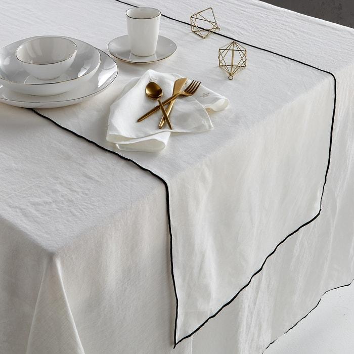 Taraka Pre-Washed Linen Table Runner  AM.PM. image 0