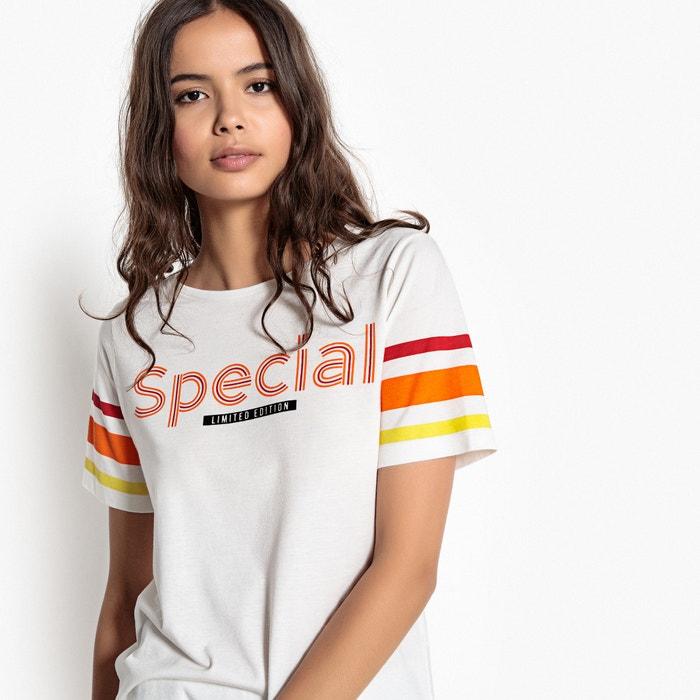 Collections a y con manga motivo Camiseta Redoute rayas corta La fqnxR6f