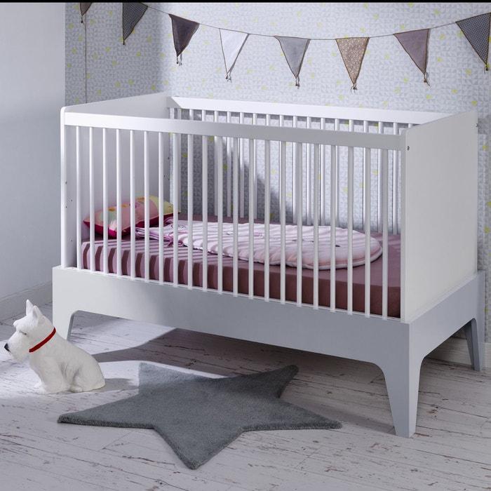 lit b b volutif 70x140 elvi blanc gris blanc gris alfred et compagnie la redoute. Black Bedroom Furniture Sets. Home Design Ideas