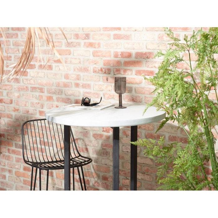 2 chaises de bar design en métal 67cm Ombra