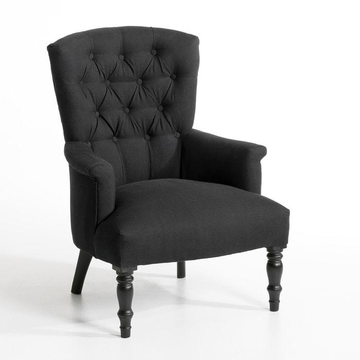 fauteuil molto toile pur lin am pm gris moyen la redoute. Black Bedroom Furniture Sets. Home Design Ideas