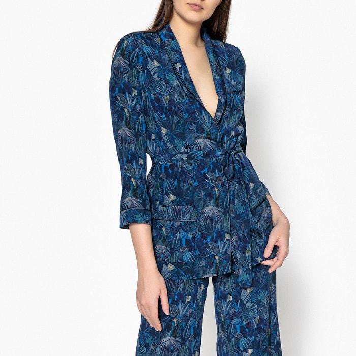 Imprimé Redoute Hanaiapa Sessun La Kimono Veste Style Bleu RqFnZw