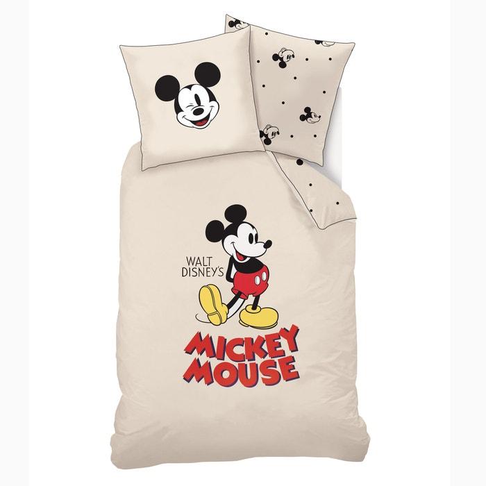 Bettwäsche Set Für Kinder Mit Bett Und Kissenbezug Beige Mickey