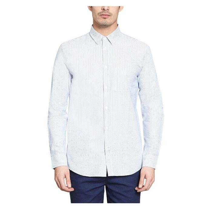 chemise oxford bleu clair le mont michel la redoute