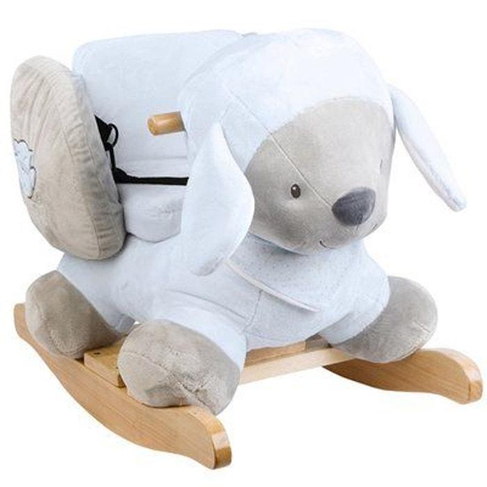 Nattou sam le mouton à bascule bébé bleu