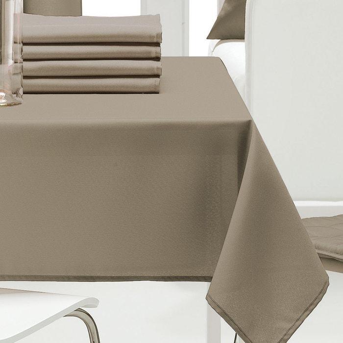 Nappe rectangulaire unie les ateliers du linge la redoute - Nappe rectangulaire grande taille ...