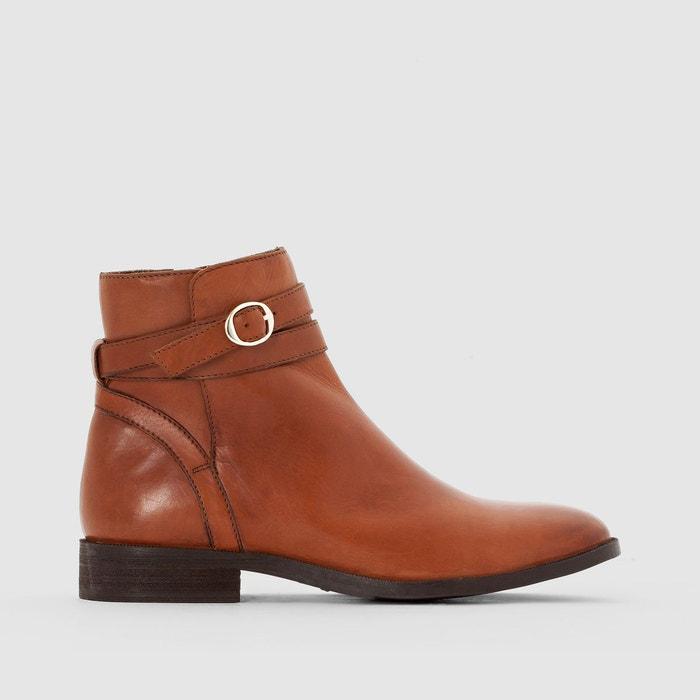 Boots cuir bride à boucle atelier R