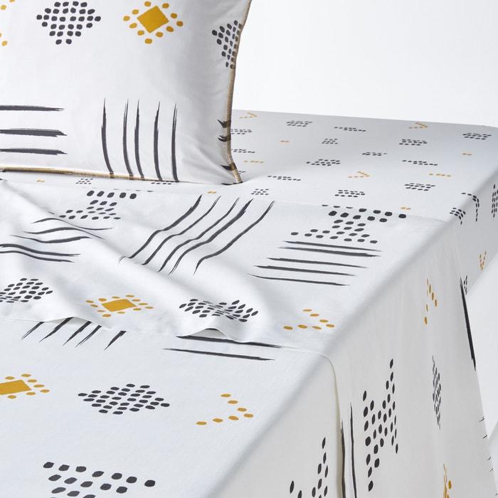 drap plat imprim percale de coton assana imprim la redoute interieurs la redoute. Black Bedroom Furniture Sets. Home Design Ideas