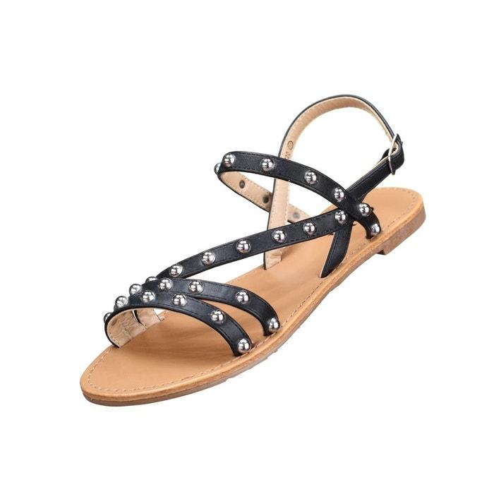 Sandales à clous noir Leader Mode