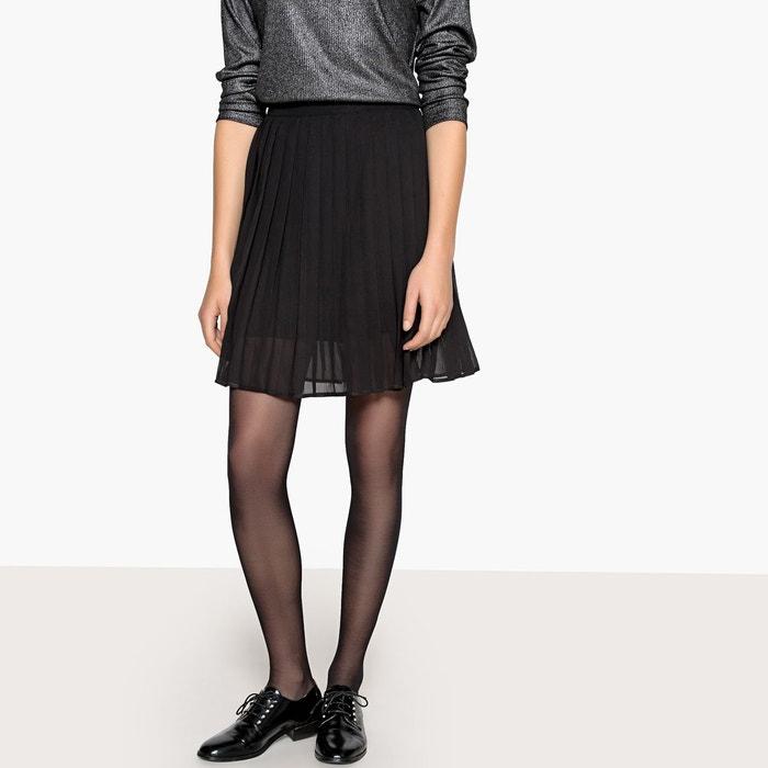 8af1bf1797a Jupe courte plissée noir La Redoute Collections