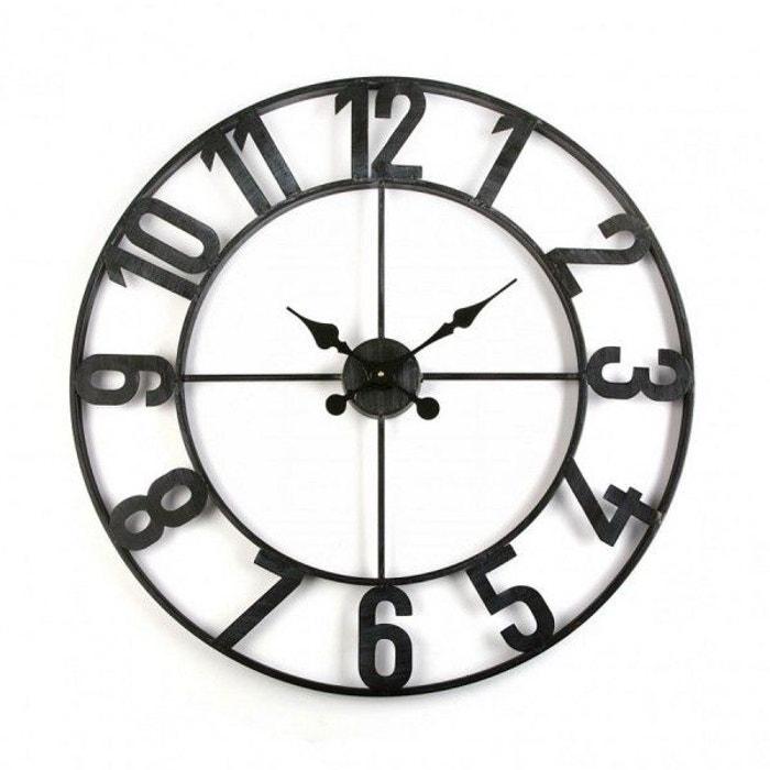 Horloge murale industrielle en m tal d80 merry multicolore declikdeco la redoute for Horloge murale multicolore